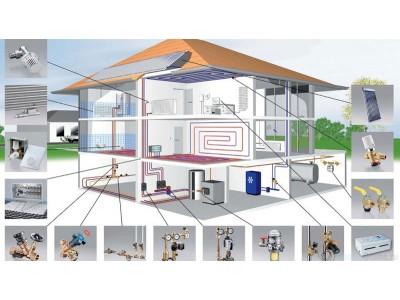 Монтаж отопление в частном доме.