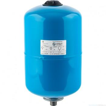 Гидроаккумулятор 12 л. вертикальный (цвет синий) для водоснабжения STOUT
