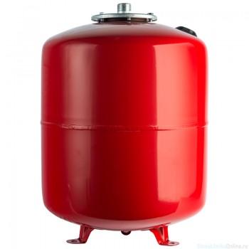 Расширительный бак на отопление 100 л. STOUT (цвет красный)