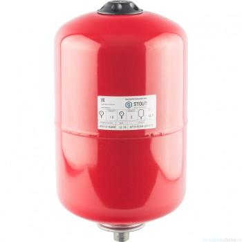 Расширительный бак на отопление 12 л. STOUT (цвет красный)