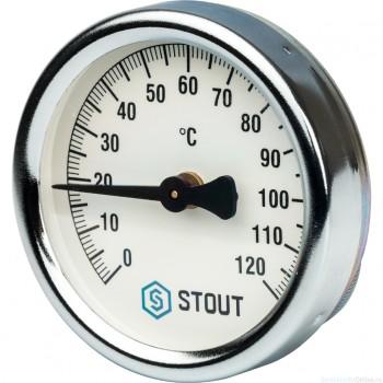 """Термометр биметаллический накладной с пружиной. Корпус Dn 63 мм, 0...120°С, 1""""-2"""""""