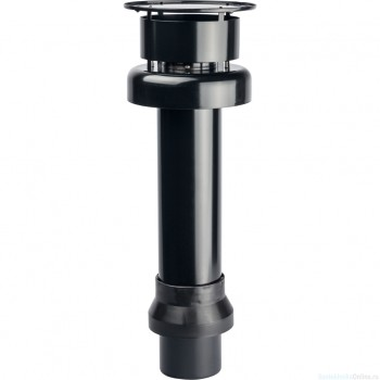 STOUT Элемент дымохода DN80/100 к-т адаптер вертикальный утепленный, 584 мм, финальный участок