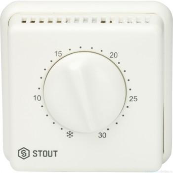 Термостат томнатный проводной TI-N с переключателем зима-лето и светодиодом