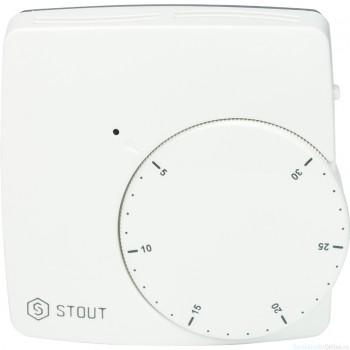 Термостат комнатный электронный WFHT-DUAL включ. дистанционный датчик «в пол» L=3 м
