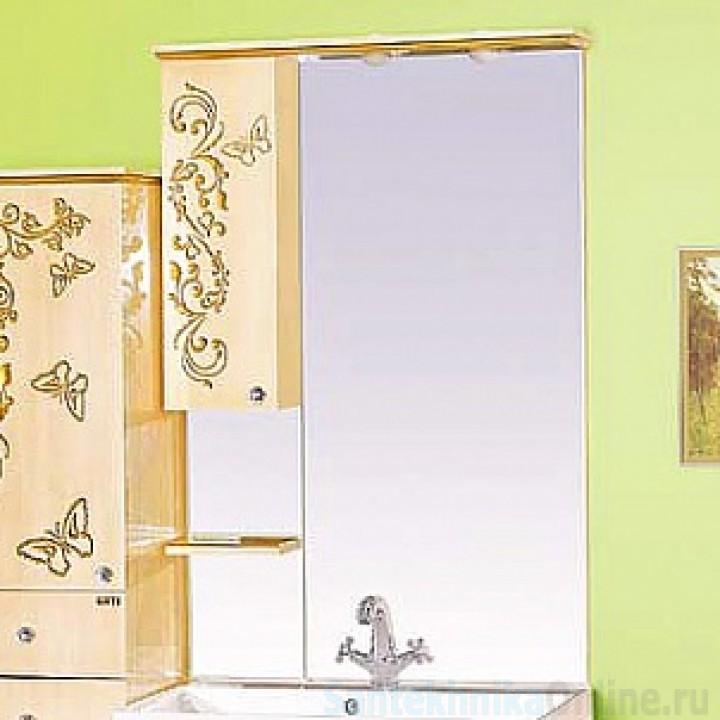 Зеркало-шкаф Misty Бабочка 75 L Л-Баб04075-033СвЛ