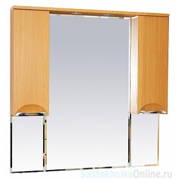 Зеркало-шкаф Misty Глория - 105 зеркало - шкаф (свет) БУК П-Гло02105-18Св