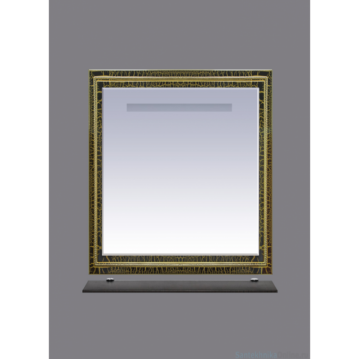 Зеркала Misty Fresko 75 краколет черный патина Л-Фре03075-0217