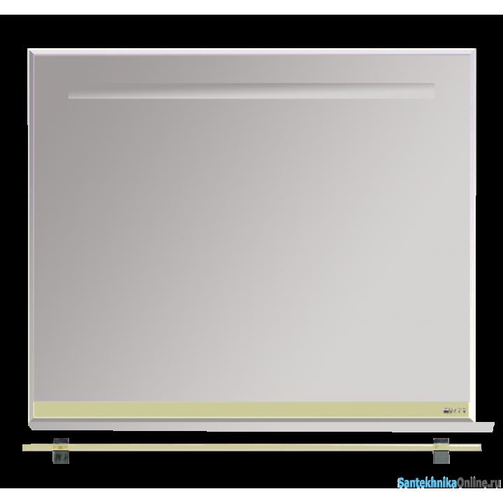 Зеркала Misty Джулия - 90 Зеркало с полочкой 12 мм бежевое Л-Джу03090-0310