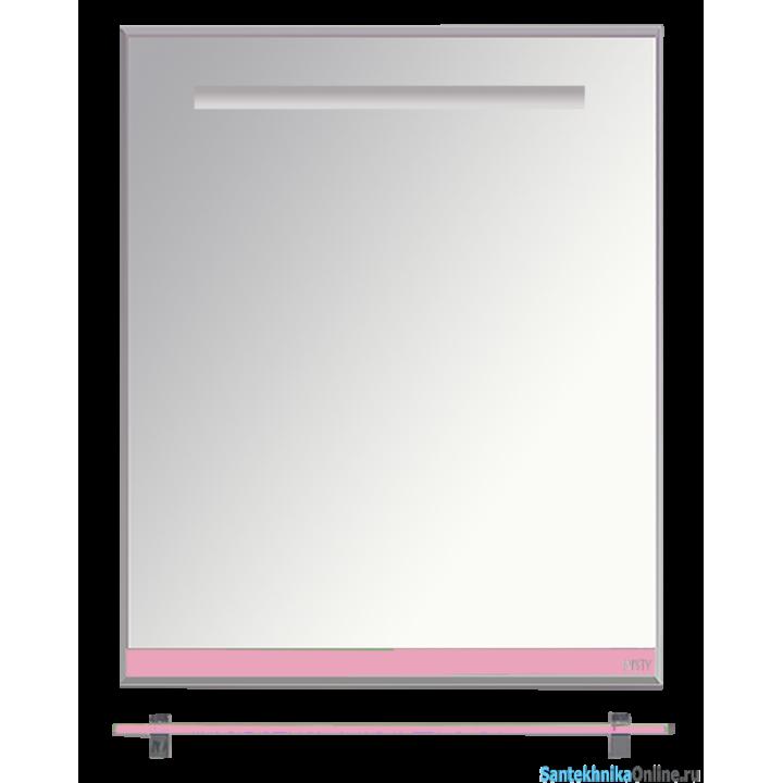 Зеркала Misty Джулия - 65 Зеркало с полочкой 12 мм розовое Л-Джу03065-1210