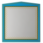 Зеркала Misty Ницца 90 бирюзоое патина Л-Ниц02090-093