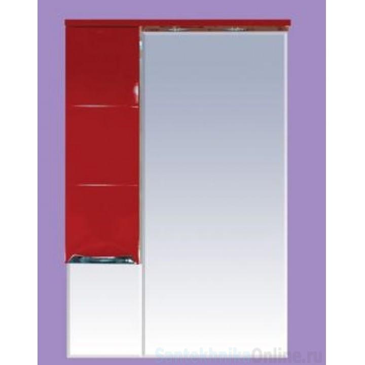 Зеркало-шкаф Misty Петра 65 L красный П-Пет04065-041СвЛ