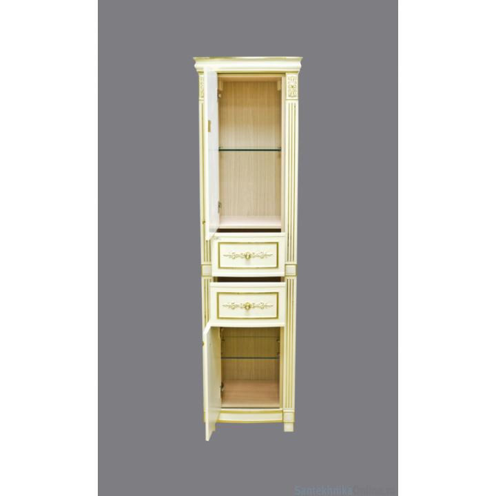 Шкаф-пенал Misty Tiffany 50 L белый сусальное золото Л-Тиф05050-391Л