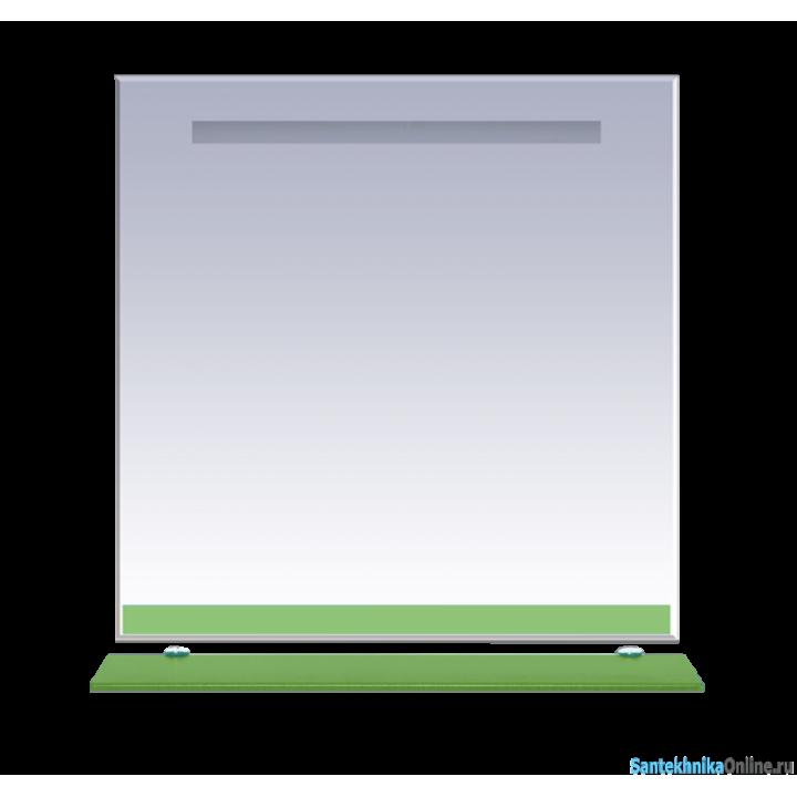 Зеркала Misty Джулия - 90 Зеркало с полочкой 12 мм салатовое Л-Джу03090-0710