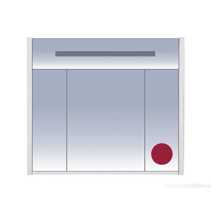 Зеркало-шкаф Misty Джулия 90 бордовый Л-Джу04090-1010