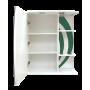 Зеркало-шкаф Misty Каролина 60 L зеленый П-Крл02060-285СвЛ