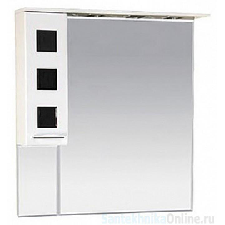 Зеркало-шкаф Misty Кармен 90 L черный П-Крм04090-2315Л