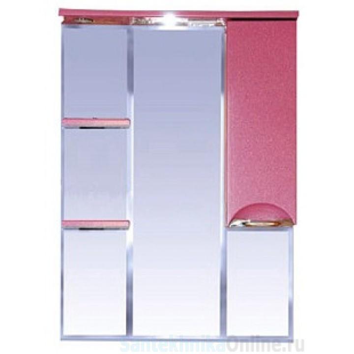 Зеркало-шкаф Misty Жасмин 75 R розовый П-Жас02075-122СвП