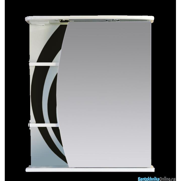 Зеркало-шкаф Misty Каролина 60 R черный П-Крл02060-235СвП