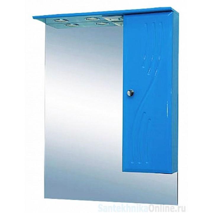 Зеркало-шкаф Misty МИСТИ-60 зеркало-шкаф прав. (свет) голубая Э-Мис02060-06СвП