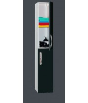Шкаф-пенал Misty Эмилия - 30 Пенал черный подвесной прав. П-Эми05030-021ПоП