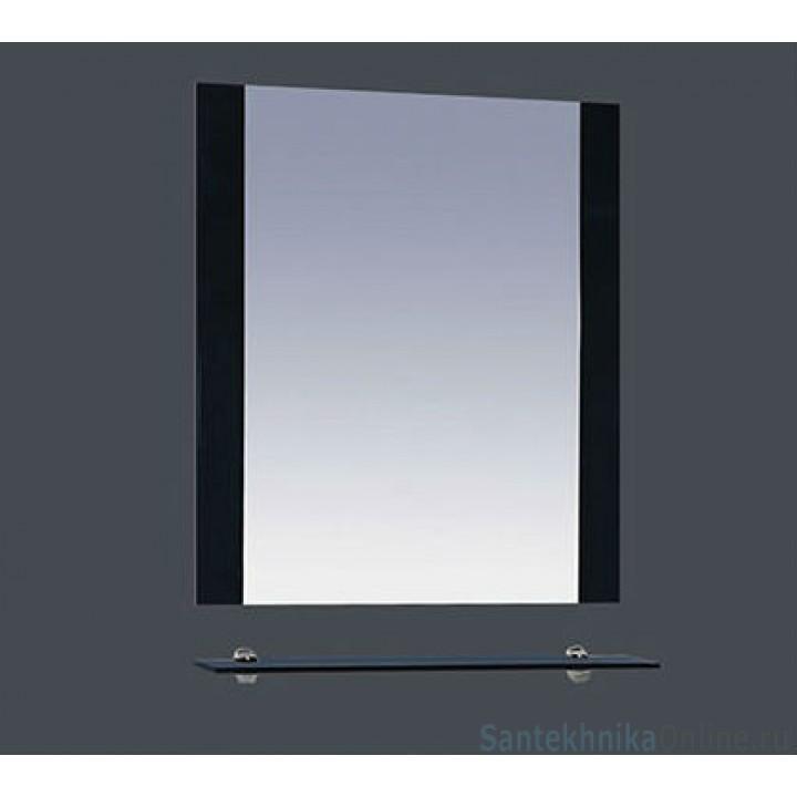 Зеркала Misty Эмилия - 60 Зеркало черное с полочкой П-Эми03060-021
