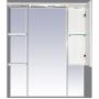 Зеркало-шкаф Misty Александра - 85 зеркало-шкаф прав.(свет) белый мет П-Але04085-352СвП