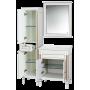 Зеркала Misty Женева 60 зеркало белое патина П-Жен02060-013