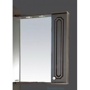 Зеркало-шкаф Misty Александра - 55 зеркало-шкаф прав. (свет) ВЕНГЕ П-Але04055-052СвП