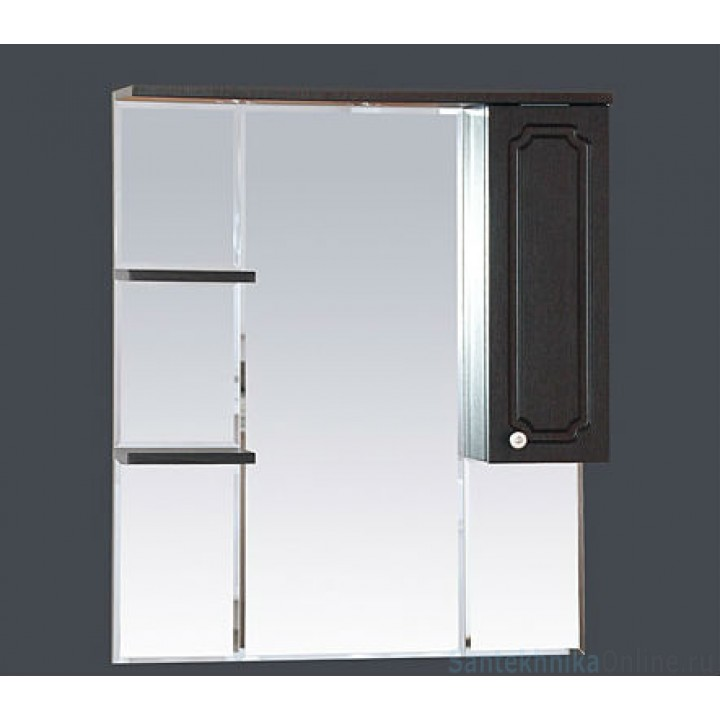 Зеркало-шкаф Misty Александра - 85 зеркало-шкаф прав. (свет) ВЕНГЕ П-Але04085-052СвП