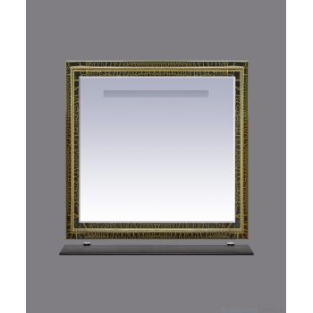 Зеркала Misty Fresko 90 краколет черный патина Л-Фре03090-0217