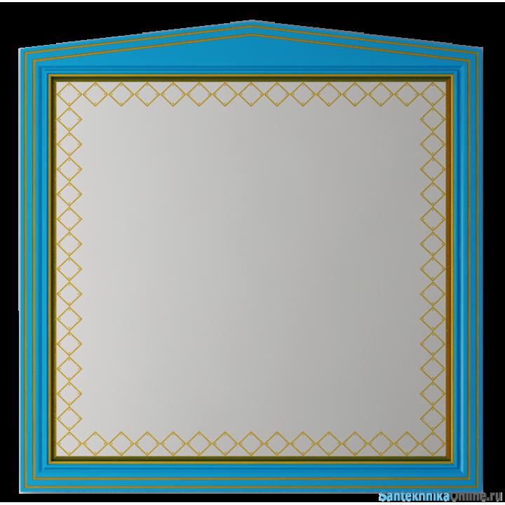 Зеркала Misty Ницца 100 бирюзоое патина Л-Ниц02100-093