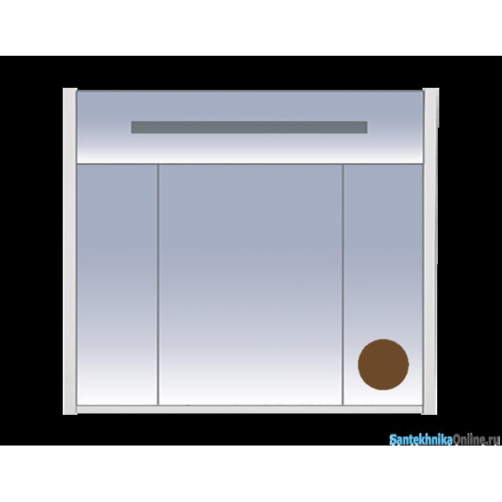 Зеркало-шкаф Misty Джулия 90 коричневый Л-Джу04090-1410