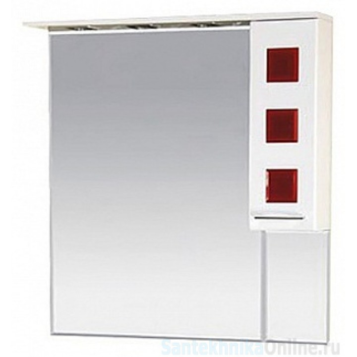 Зеркало-шкаф Misty Кармен 90 R красный П-Крм04090-2615П
