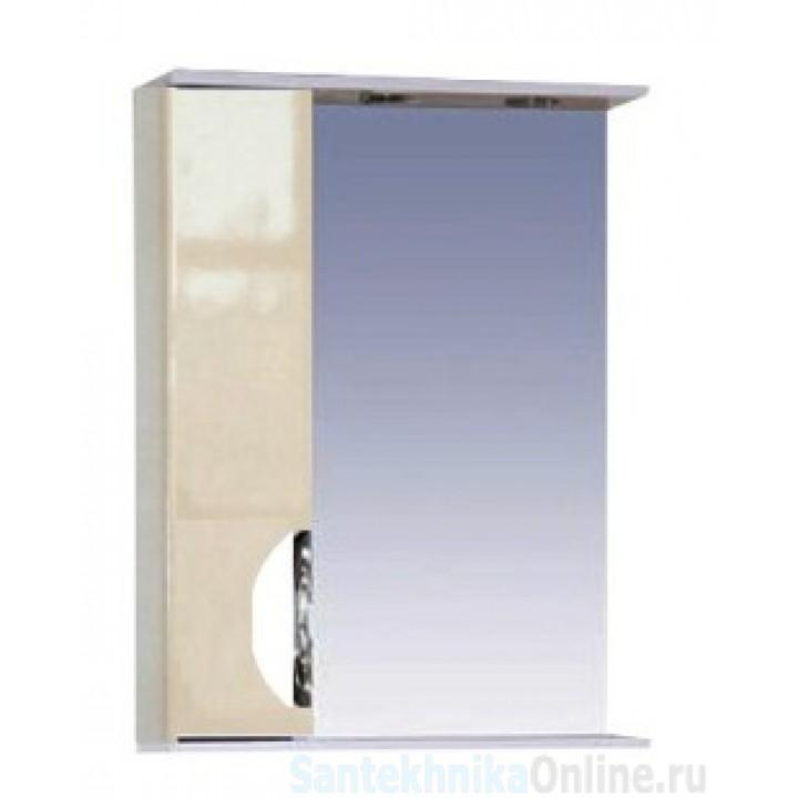 Зеркало-шкаф Misty Жасмин 55 L бежевый П-Жас02055-031СвЛ