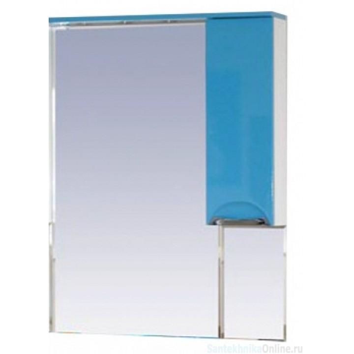 Зеркало-шкаф Misty Жасмин 65 R голубой П-Жас02065-061СвП