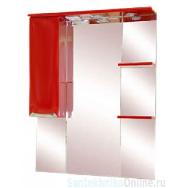 Зеркало-шкаф Misty Жасмин 75 L красный П-Жас02075-041СвЛ