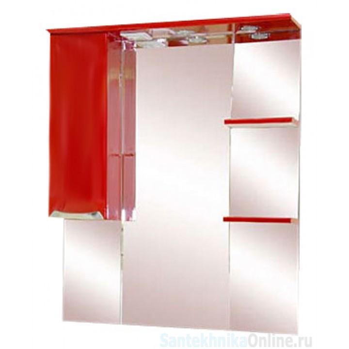 Зеркало-шкаф Misty Жасмин 85 L красный П-Жас02085-041СвЛ
