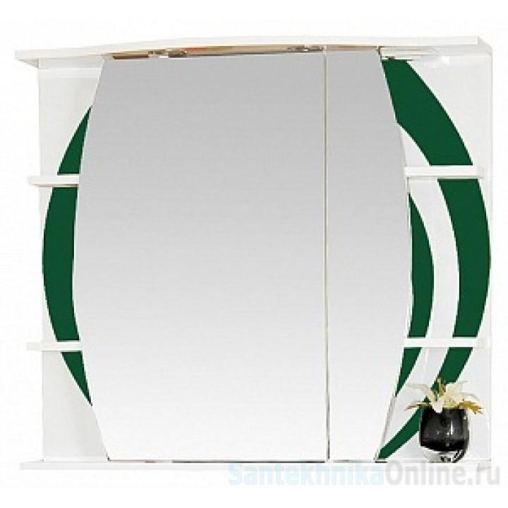 Зеркало-шкаф Misty Каролина 80 R зеленый П-Крл02080-285СвП