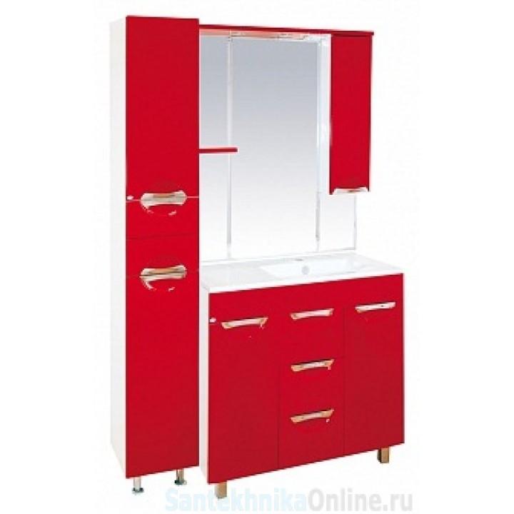 Зеркало-шкаф Misty Кристи 90 R красный П-Кри02090-041СвП