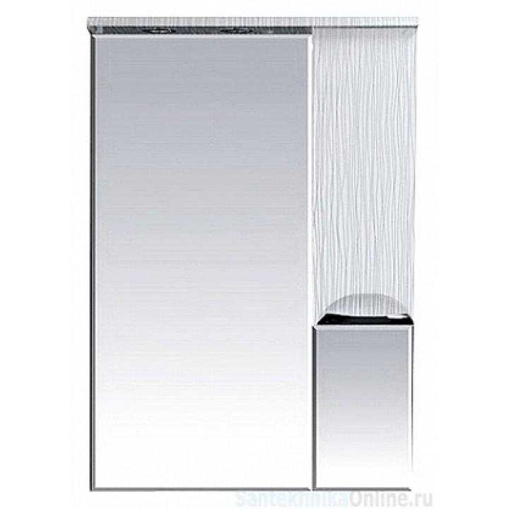 Зеркало-шкаф Misty Лорд - 65 зеркало-шкаф (свет) прав. (белая пленка) П-Лрд04065-012СвП