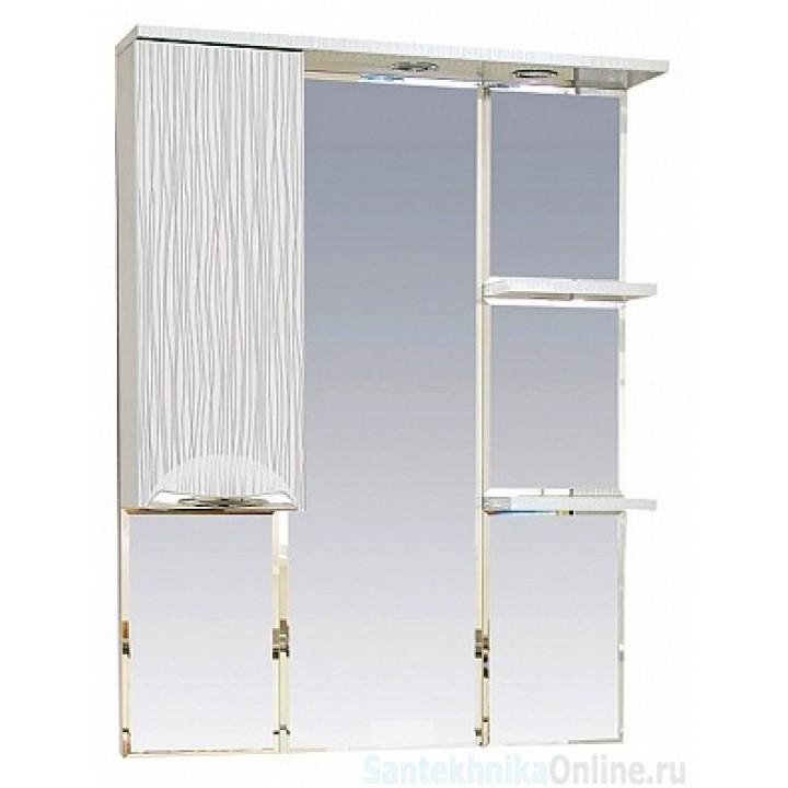 Зеркало-шкаф Misty Лорд - 85 зеркало-шкаф (свет) лев.(белая пленка ) П-Лрд04085-012СвЛ