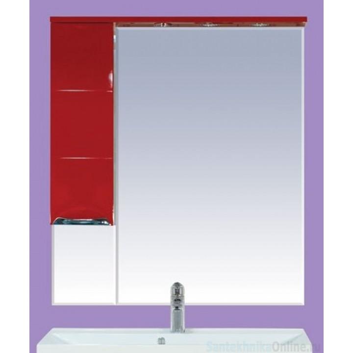 Зеркало-шкаф Misty Петра 75 L красный П-Пет04075-041СвЛ