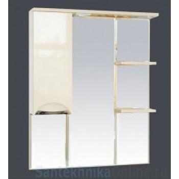 Зеркало-шкаф Misty Петра 90 L бежевый П-Пет04090-031СвЛ