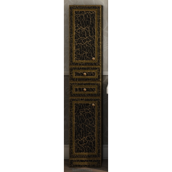 Шкаф-пенал Misty Fresko 35 L с 2-мя ящиками черный патина Л-Фре05035-02172ЯЛ