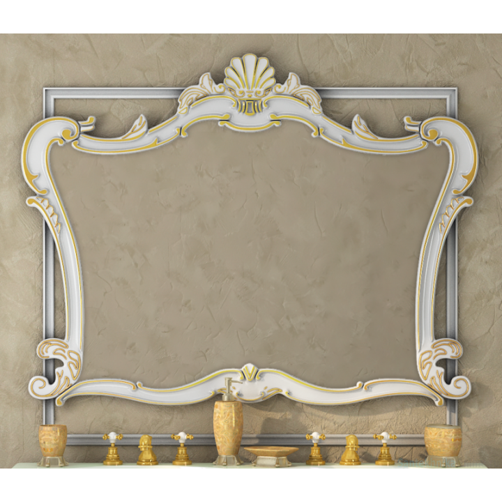 Зеркала Misty Bianco 90 белое сусальное золото Л-Бья02090-391