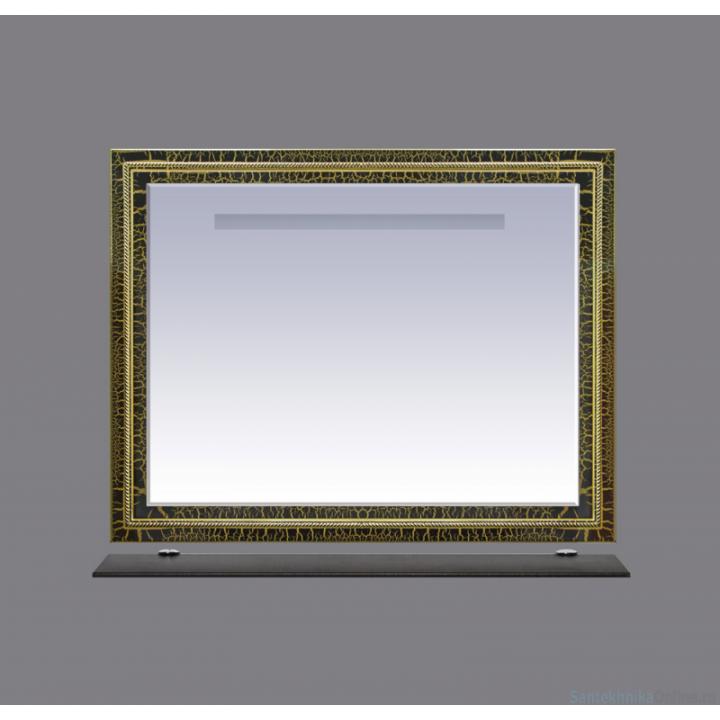 Зеркала Misty Fresko 105 краколет черный патина Л-Фре03105-0217