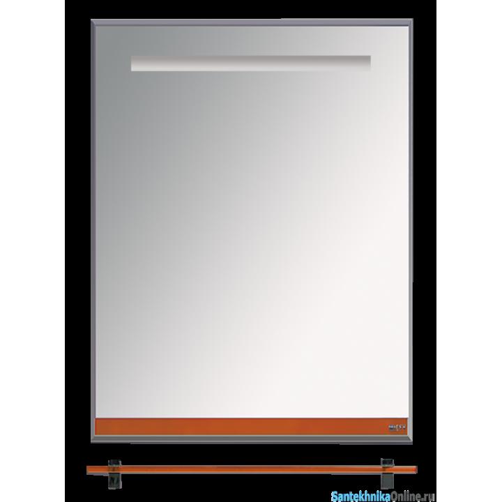 Зеркала Misty Джулия - 60 Зеркало с полочкой 12 мм оранжевое Л-Джу03060-1310