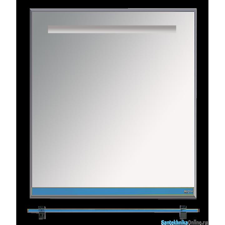 Зеркала Misty Джулия - 65 Зеркало с полочкой 12 мм синий металлик Л-Джу03065-3610