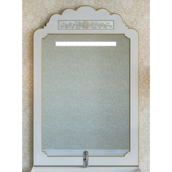 Зеркала Misty Milano 70 бежевое патина/декор Л-Мил02070-033