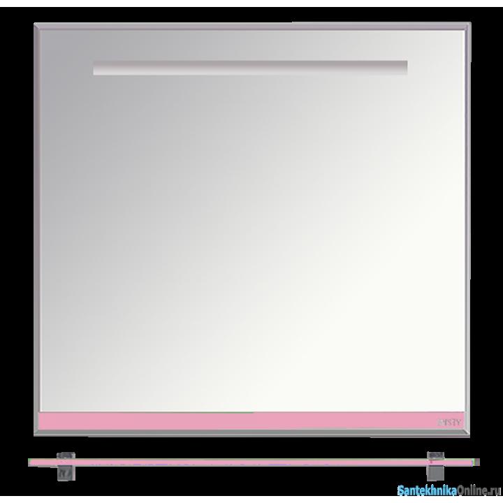 Зеркала Misty Джулия - 85 Зеркало с полочкой 12 мм розовое Л-Джу03085-1210